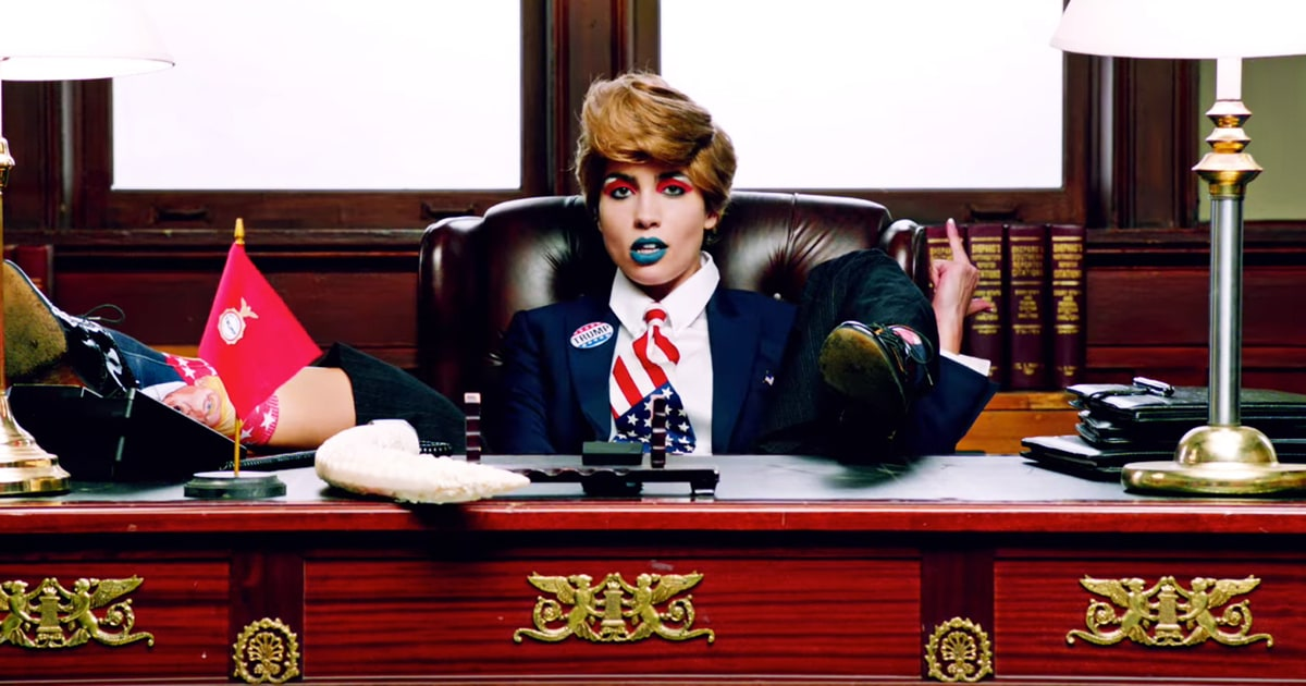 pussy riot as donald trump in new music video: still shot