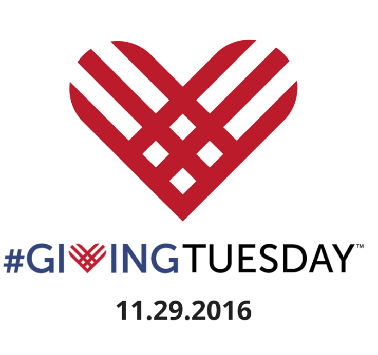 a red heart made of lines and the giving tuesday copy with a hashtag in front