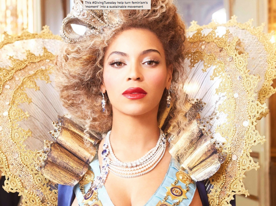 beyonce in a regal, royal golden queens' outfit
