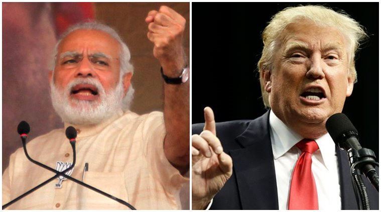 modi trump indian epress