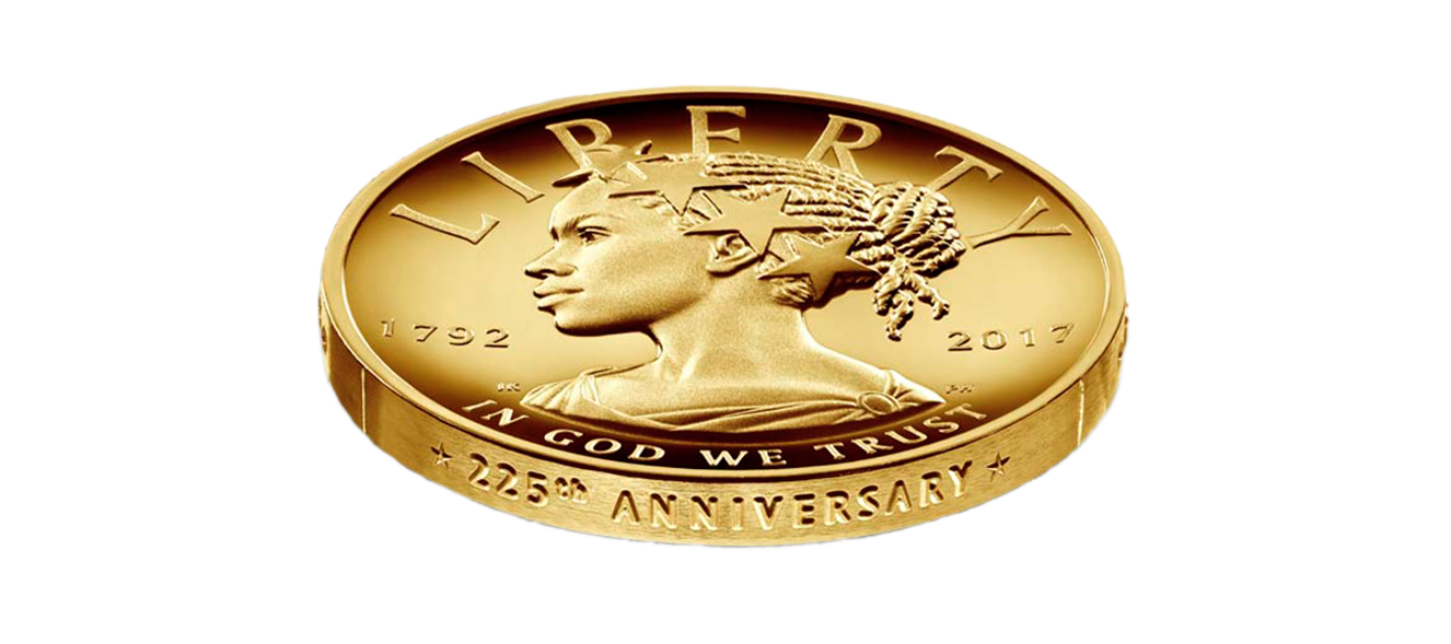 A gold coin from the US mint