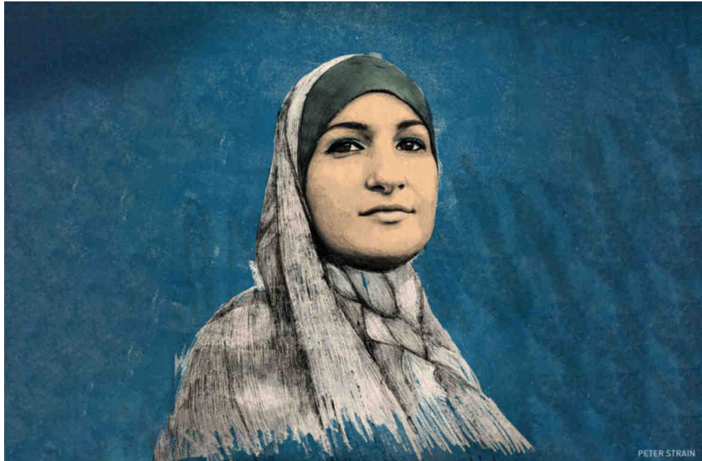 a profile sketch of activist Linda Sarsour