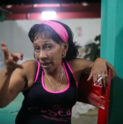 "Screenshot of woman from ""A Cuban Woman's Perspective"""