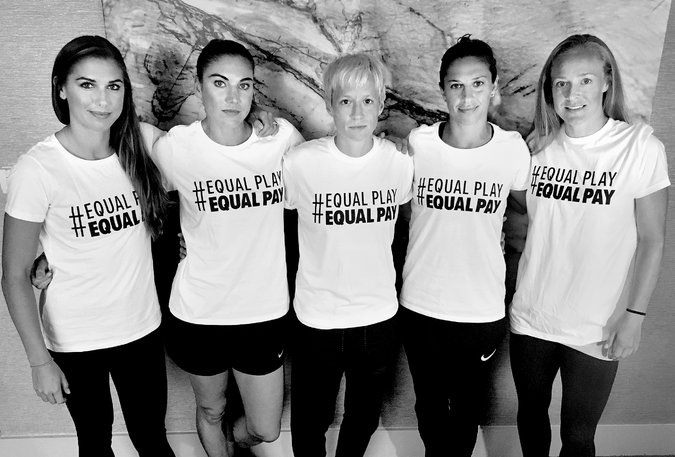 uswnt wearing equal pay shirts