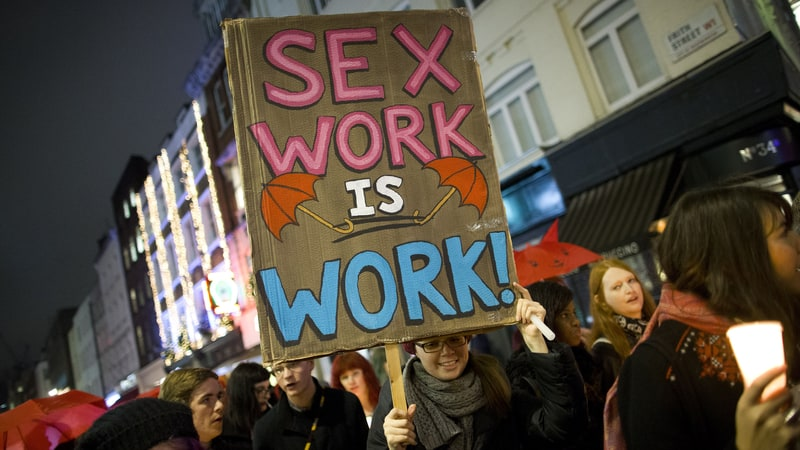 Sign that says Sex Work is Work