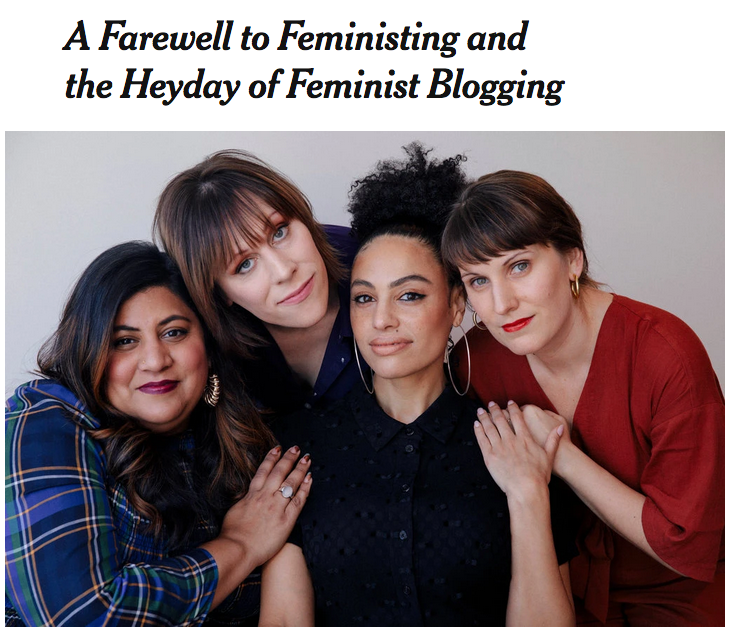 A farewell to Feministing and the heyday of feminist blogging